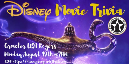 Disney Movie Trivia at Growler USA Rogers