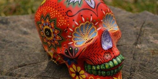 Pottery SUGAR SKULL Paint & Sip with Black Diamond Pottery