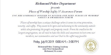 Richmond Police Places of Worship Safety & Awareness Forum tickets