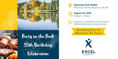 Excel Society 55th Birthday Celebration - Party in the Park tickets