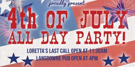 4th of July Patio Party At The Lansdowne Pub!  tickets