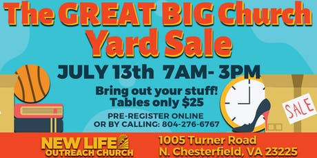 The Great, Big Church Yardsale tickets