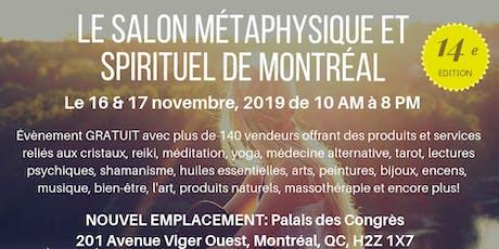 Le Salon Métaphysique et Spirituel de Montréal billets