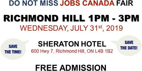 Richmond Hill Job Fair – July 31st, 2019 tickets