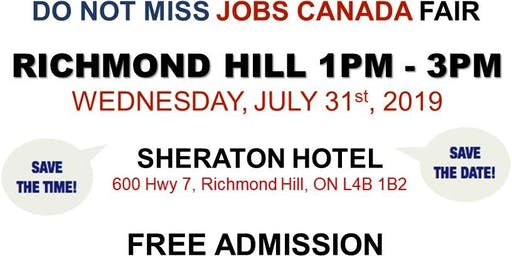 Richmond Hill Job Fair – July 31st, 2019