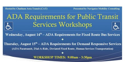 ADA Requirements for Public Transit Services Workshops