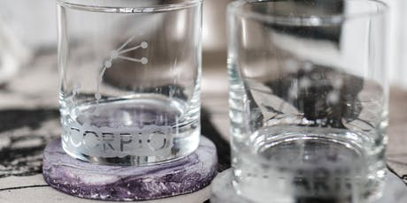 Constellation Glass Etching + Marbled Concrete Coasters tickets