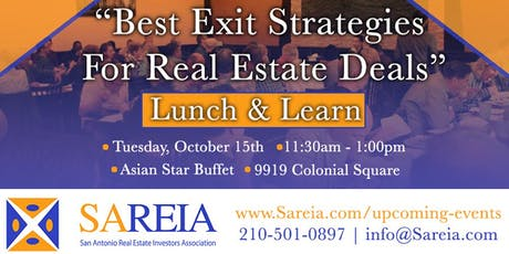 """Lunch & Learn - """"Best Exit Strategies for Real Estate Deals"""" tickets"""