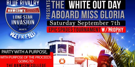 The Blue Rivalry Weekend White Out Mid-Day Party Cruise tickets