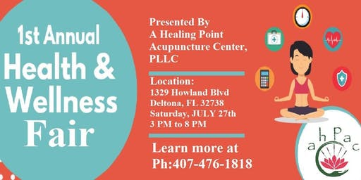 A Healing Point Acupuncture Health & Wellness Fair