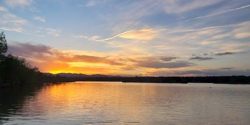 Sloan's Lake Sunset Yoga with Skylines