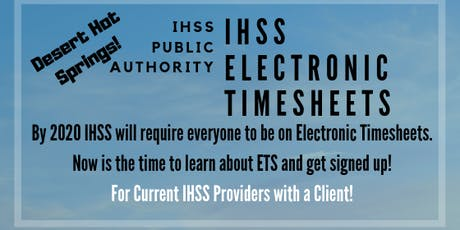 ETS Training for Current IHSS Providers in Desert Hot Springs tickets