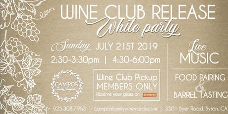 Summer Wine Club Release Party - Wine Club Members Only!  tickets