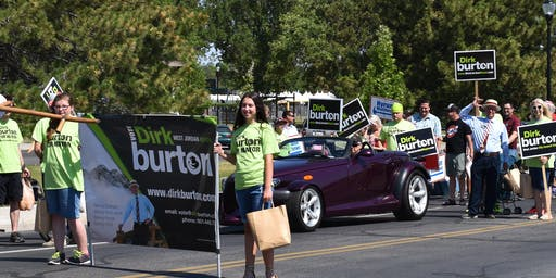 Dirk Burton for West Jordan Mayor Parade Walk