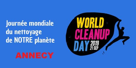 WORLD CLEAN UP DAY ANNECY billets