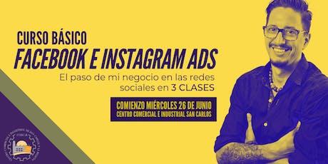 Curso Básico Facebook e Instagram ADS entradas