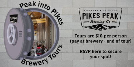 RSVP - Peak Into Pikes Brewery Tours for July 4 tickets