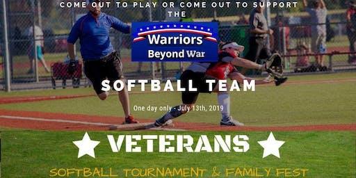 Warriors Beyond War Veterans Softball Tournament Team