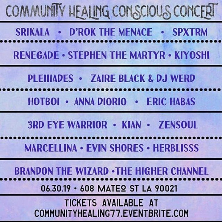 COMMUNITY HEALING CONSCIOUS CONCERT image
