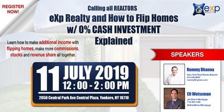 eXp Realty and  How to Flip Homes w/ 0% CASH INVESTMENT  Explained tickets