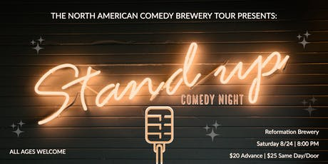 The North American Comedy Brewery Tour at Reformation Brewery (All Ages!) tickets