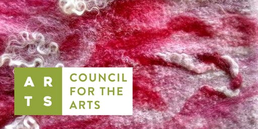 CFTA Art Workshop :: Nuno Felted Table Runner or Scarf