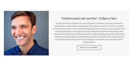 Portfolio review with Jon-Paul Harrison tickets