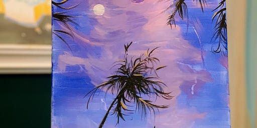Beginner Art Painting Event -Palm Coconut Tree- 2 Hrs