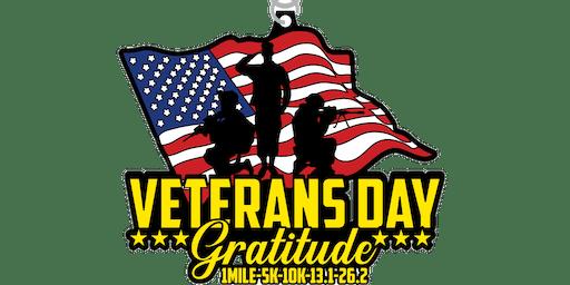 2019 Veteran's Day 1M, 5K, 10K, 13.1, 26.2 - Raleigh
