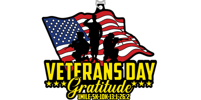 2019 Veteran's Day 1M, 5K, 10K, 13.1, 26.2 - San Antonio