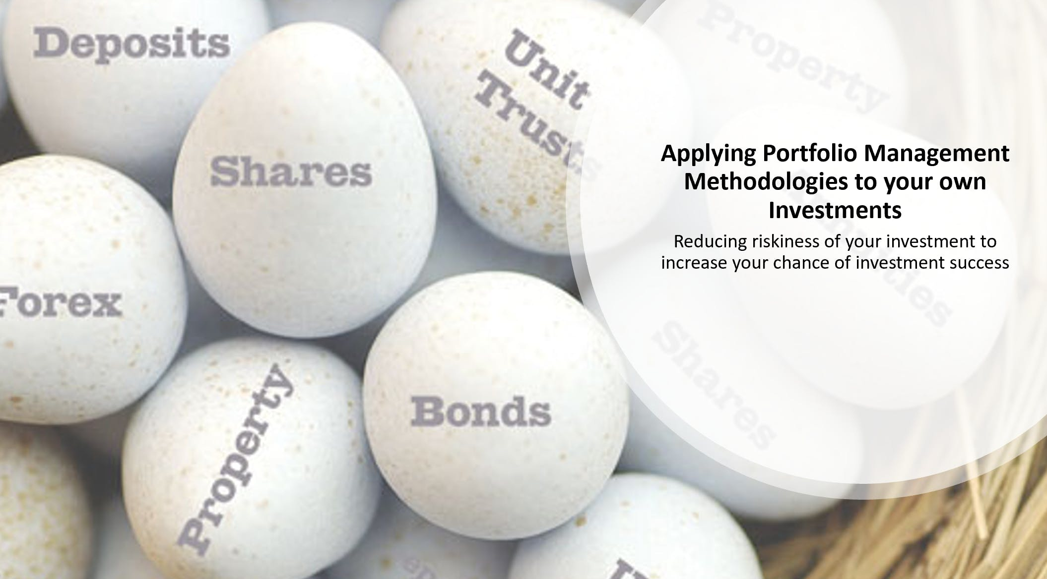 Applying Portfolio Management Methodologies to your own Investments