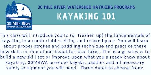 Kayaking 101   August 10     MINNEHONK LAKE