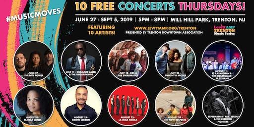 2019 Levitt AMP Trenton Music Series (10 FREE CONCERTS)