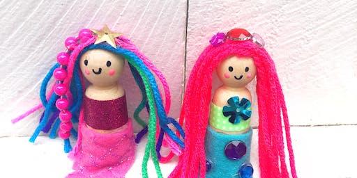 Little Mermaid Peg Dolls/KIDS