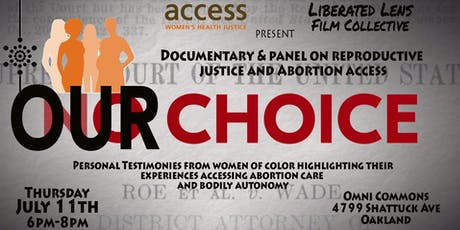 Our Choice! - Let's Talk Reproductive Justice w/ performance by Indigo Mateo tickets