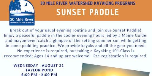 Sunset Paddle  TAYLOR POND