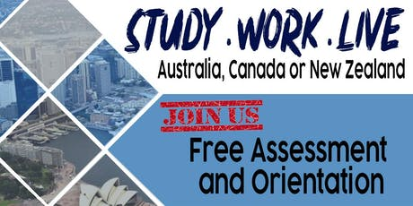 STUDY. WORK. LIVE IN AUSTRALIA, CANADA AND NEW ZEALAND FREE SEMINAR tickets