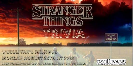 Stranger Things Trivia at O'Sullivan's Irish Pub