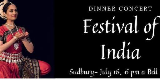 FESTIVAL OF INDIA- SUDBURY- DINNER CONCERT