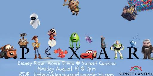 Disney Pixar Movie Trivia at Sunset Cantina