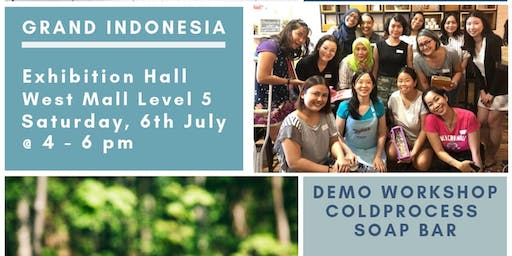 ColdProcessed Soap Bar Demo Workshop in Mall Grand Indonesia 6 July