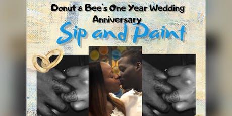 Donut & Bee's 1 Year Wedding Anniversary Sip & Paint tickets