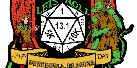 2019 Let's Roll - World D&D Day 1 Mile, 5K, 10K, 13.1, 26.2 - Springfield tickets