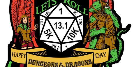 2019 Let's Roll - World D&D Day 1 Mile, 5K, 10K, 13.1, 26.2 - Chattanooga tickets