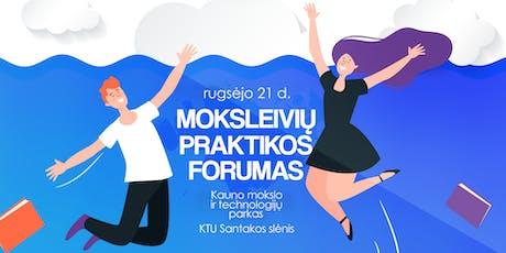 Moksleivių Praktikos Forumas tickets