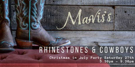 Christmas In July Rhinestones & Cowboys  tickets