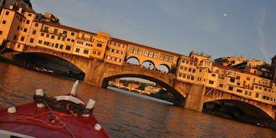 Tramonto con i Renaioli sull'Arno