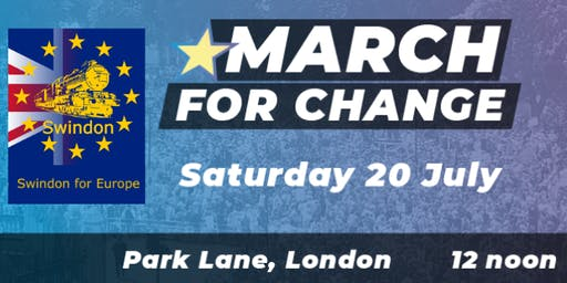 COACH to MARCH FOR CHANGE in London 20th July 2019