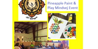Art Unplugged's Pineapple Paint and Play Mindvej Event at Dreams Gymnastics!