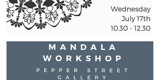 School Holiday Mandala Workshop with Cathy Gray